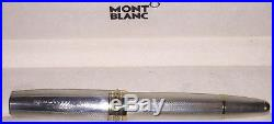 MONTBLANC MEISTERSTUCK Solitaire Sterling Silver Barley Pattern Fountain Pen