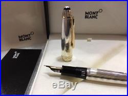 MONTBLANC MST SOLITAIRE STERLING SILVER LeGRAND 146 FOUNTAIN PEN #13838 (M) NIB