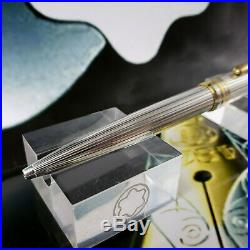 MONTBLANC Meisterstuck 164 solitaire sterling silver ballpoint pen AG925