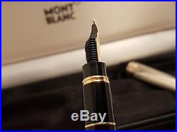 MONTBLANC Meisterstuck Doue Sterling Silver 925 Hommage Mozart Fountain Pen