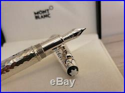 MONTBLANC Meisterstück Martelé Sterling Silver LeGrand Au750 M Nib Fountain Pen