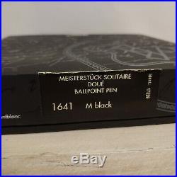 MONTBLANC Meisterstuck Solitaire Doue Sterling Silver 164 Ballpoint Pen, MINT
