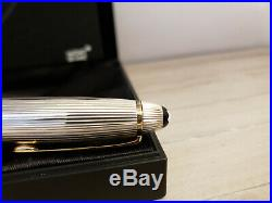 MONTBLANC Meisterstuck Solitaire Doue Sterling Silver LeGrand 162 Rollerball Pen