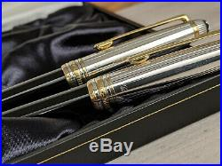 MONTBLANC Meisterstuck Solitaire Doue Sterling Silver Rollerball & Fountain Pen