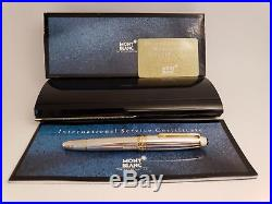 MONTBLANC Meisterstuck Solitaire Sterling Silver 18K M Nib LeGrand Fountain Pen