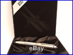 MONTBLANC Meisterstuck Solitaire Sterling Silver 18K NIB 146 Fountain Pen, NOS