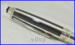 MONTBLANC Meisterstuck Solitaire Sterling Silver Carbon Fibre Rollerball Pen