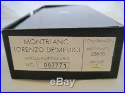 MONTBLANC Patron of Art Lorenzo de Medici Limited Edition 4810 FP Mint