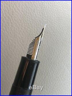 MONTBLANC Solitaire Doue Sterling Silver 925 18K Nib LeGrand Fountain Pen, OB