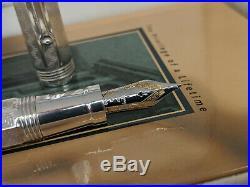 MONTEGRAPPA Reminiscence Sterling Silver B 18K Nib Foiuntain Pen