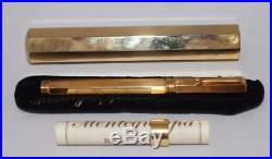MONTEGRAPPA Reminiscence Sterling Silver Vermeil Smooth Fountain Pen NEW No Box