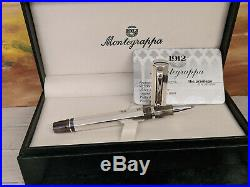 MONTEGRAPPA Sterling Silver Eleganza Rollerball Pen, EXCELLENT