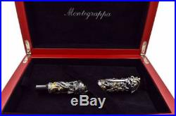 MONTEGRAPPA THE PIRATES Limited Edition Sterling Silver Yellow Gold ROLLERBALL