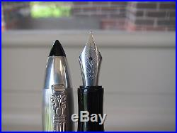 Marlen Shuttle sterling silver cap fountain pen MIB