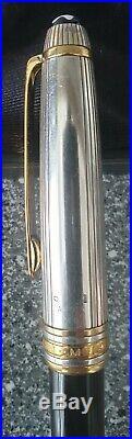 Mont Blanc Meisterstuck Solitaire Doue Sterling Silver. 925 Ballpoint Pen