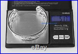 Montblanc 106421 Jewelry Sterling Silver Bangle Cabochon Star Quartz Bracelet