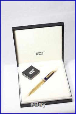Montblanc 144 RAMSES II LAPIS Vermeil Fountain Pen 18K Med nib Boxed
