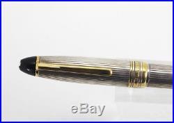 Montblanc 146 LeGrand Sterling Silver Fountain Pen 14K Med nib FOR TLC
