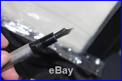 Montblanc 146 LeGrand Sterling Silver Fountain Pen BARLEY 18K Med nib NEW Boxed