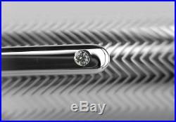 Montblanc 146 Legrand Sterling Silver Barley Diamond Fountain Pen- F Gold 104556