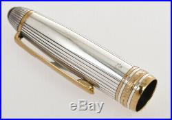 Montblanc 146 Solitaire LeGrand sterling silver fountain pen new old stock box