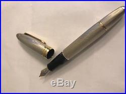 Montblanc 146 Sterling silver barley corn, 18K gold nib, fountain pen