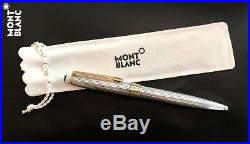 Montblanc 164 164SP Solitaire Sterling Silver Pinstriped Ballpoint PEN