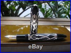 Montblanc 2002 Andrew Carnegie 4810 Sterling Silver Fountain Pen 18K M nib