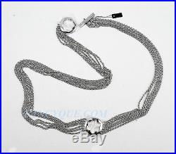 Montblanc 38714 Caress Star Collection Sterling Silver Long Necklace New Germany