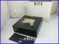Montblanc 75th Anniversary 164 Sterling Silver Rose Gold Ball Point Pen