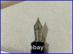 Montblanc Boheme Arabesque Azur Fountain Pen, Sterling Silver 925