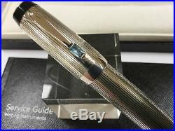 Montblanc Boheme Arabesque Azur sterling silver fountain pen RARE