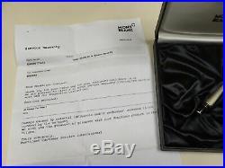 Montblanc Boheme Bleu sterling silver barley fountain pen RARE + box