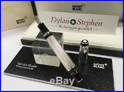 Montblanc Boheme bleu solitaire barley sterling silver fountain pen RARE