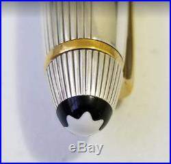 Montblanc Fountain Pen 146 Stripe Sterling Silver EF