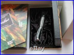 Montblanc Marcel Proust Fountain Pen Sterling Silver 18K med nib MINT Year 1999