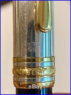 Montblanc Meisterstuck 144DS Solitaire Doue, 925ag Cap, EF 18k Nib