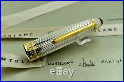 Montblanc Meisterstuck 146S Solitaire Sterling Silver LeGrand Fountain Pen B Nib
