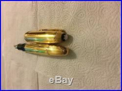 Montblanc Meisterstuck 146 LeGrand Sterling Vermeil 18K Nib Rare Pen Near Mint