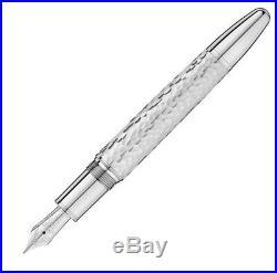 Montblanc Meisterstück 146 Martelé Sterling Silver 18K Fountain Pen M Nib 115097