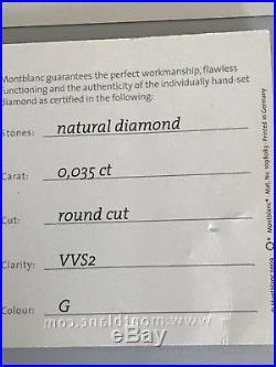 Montblanc Meisterstuck 161 Sterling Silver Barley Diamond Midsize Ballpoint Pen