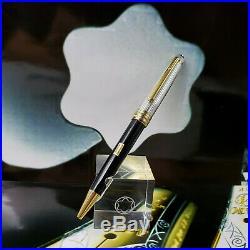 Montblanc Meisterstuck 164 Solitaire Doue Sterling Silver Ballpoint Pen Mint