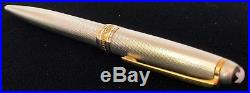 Montblanc Meisterstuck Ballpoint Pen 164S Solitaire Barley STERLING SILVER