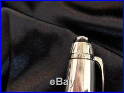 Montblanc Meisterstuck Fountain Pen 144S Solitaire Barley STERLING SILVER F Nib