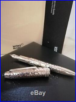 Montblanc Meisterstuck Sol. Martele Sterling Silver Legrand FP(F) #115096 -New