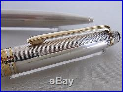 Montblanc Meisterstuck Solitaire 1646 Sterling Silver Ballpoint Pen W. Germany