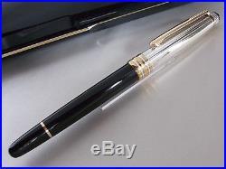 d4786ca4467 Montblanc Meisterstuck Solitaire Doue 1441 Fountain Pen Sterling Silver Cap