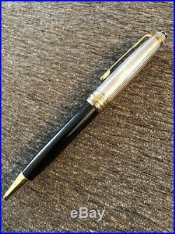 Montblanc Meisterstuck Solitaire Doue 1641 Ballpoint Pen Sterling Silver Cap