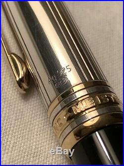 Montblanc Meisterstuck Solitaire Doue Sterling Silver 925 Ballpoint #BN1532890