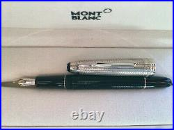 Montblanc Meisterstuck Solitaire Doue Sterling Silver Fountain Pen Barley F 144